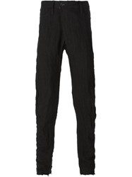 Lost And Found Off Centre Fastening Trousers Black