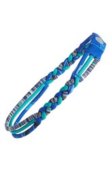 Zella 'Nomad' Braided Headband Blue Ultra Astral Print