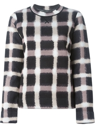 Marc By Marc Jacobs Blurred Check Sweatshirt Black