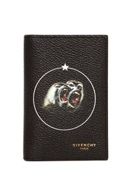 Givenchy Monkeys Printed Faux Leather Card Holder
