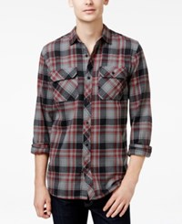 Tavik Men's Long Sleeve Vincent Plaid Shirt Grey