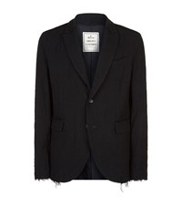 Miharayasuhiro Deconstructed Wool Blazer Male Black