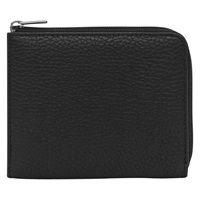 Reiss Hunt Leather Zip Wallet Black