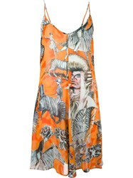 Jean Paul Gaultier Vintage Zebra Print Dress Yellow And Orange