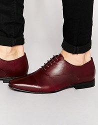 Kg By Kurt Geiger Edenbridge Oxford Shoes In Leather Red