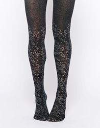 Gipsy Cotton Ivy Over The Knee Tights Charcoal