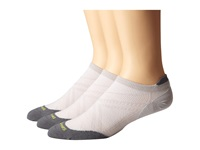 Smartwool Phd Run Ultra Light Micro 3 Pair Pack Silver Men's Crew Cut Socks Shoes