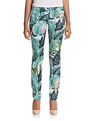 Just Cavalli Tropical Print Skinny Jeans