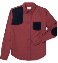 Red L S Button Down Shirt