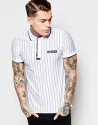 Ellesse Polo Shirt With Stripes Optic White