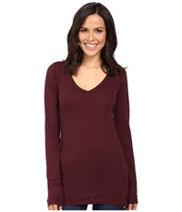 Lamade Fitted V Neck Tee Acai Women's Long Sleeve Pullover Purple