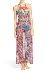 Laundry By Shelli Segal Women's Halter Cover Up Maxi Dress