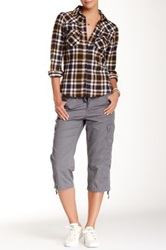 Supplies By Unionbay Kinley Cropped Cargo Pant Gray