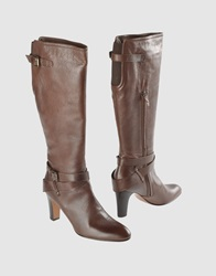Bagutta High Heeled Boots Dark Brown