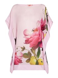 Ted Baker Cammira Floral Placement Print Cover Up Pink