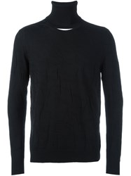 Chalayan Split Roll Neck Jumper Black