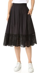 Marc Jacobs Full Skirt With Lace Trim Black