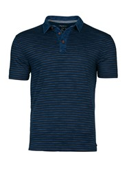Raging Bull Stripe Polo Navy