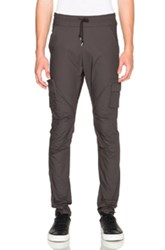 John Elliott Tapered Cotton Poplin Cargo Pants In Gray