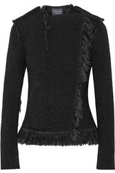 Lanvin Fringed Alpaca Blend Jacket Black