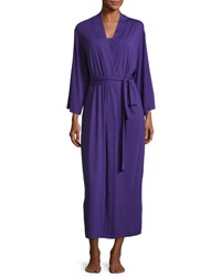 Natori Shangri La Jersey Long Robe Royal Purple