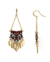 Aqua Callandra Statement Drop Earrings Burgundy