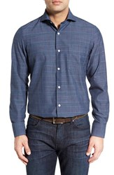Men's John W. Nordstrom Regular Fit Plaid Sport Shirt