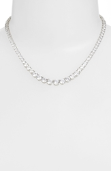 Nadri Cubic Zirconia Collar Necklace Silver