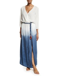 Ondademar Rosental Dip Dye Maxi Coverup Dress