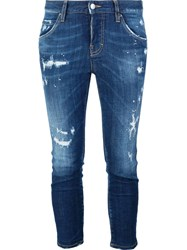 Dsquared2 'Cool Girl Cropped' Jeans Blue