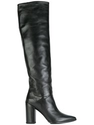Stuart Weitzman 'Scrunchy' Knee High Boots Black