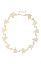 Topshop Bird Collar Necklace Gold