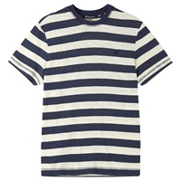 Aquascutum London Aquascutum Buster Stripe Short Sleeve T Shirt Blue White