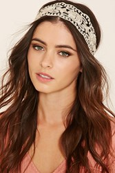 Forever 21 Floral Embroidered Headwrap