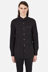 Opening Ceremony Poplin Zip Front Shirt Black