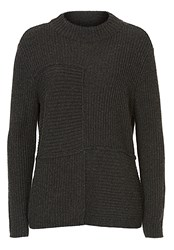 Betty Barclay Ribbed Crew Neck Jumper Grey