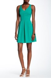 Adelyn Rae Lace Up Fit And Flare Dress Green