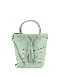 Steve Madden Benny Studded Faux Leather Bucket Bag Mint