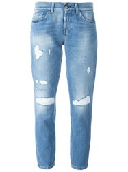 7 For All Mankind Distressed 'Josie' Jeans Blue
