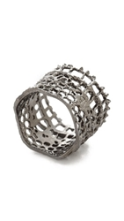 Aurelie Bidermann Vintage Lace Ring Black Silver