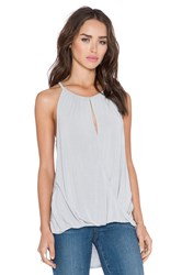 Michael Stars Keyhole Hi Low Halter Top Gray