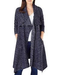 Phase Eight Bellona Marled Duster Cardigan Navy