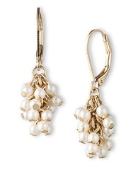 Lonna And Lilly Goldtone Pearl Cluster Drop Earrings