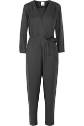 Iris And Ink Adeline Cupro Wrap Jumpsuit