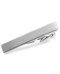 Kenneth Cole Reaction Tie Clip Short Brushed Nickel With Gift Box