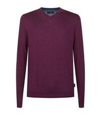 Ted Baker Cashguy V Neck Jumper Male Pink