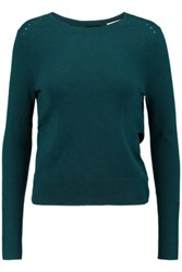 Halston Heritage Wrap Effect Cashmere Sweater Teal