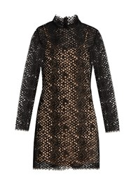 Alexander Wang Long Sleeved Lace Mini Dress Black