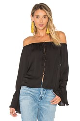 L'academie The Off Shoulder Blouse Black