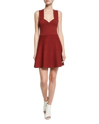A.L.C. Rada Sleeveless Fit And Flare Jersey Dress Copper